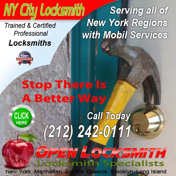Locksmith Locks Repair – Open Locksmith Call 212-242-0111